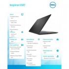 """Inspiron 5587 Win10Home i7-8750H/512GB/1TB/16GB/GTX1060/15.6""""UHD/KB-Backlit/56WHR/Black/1Y PS   1Y CAR-207959"""