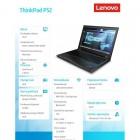 Notebook ThinkPad P52 20M9001CPB W10Pro i7-8850H/8GB/256GB/P1000 4GB/15.6 FHD/3YRS OS -221205