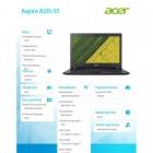 Laptop A315-51-380TDXK REPACK WIN10/i3-7100U/4GB/256SSD/15.6 HD-213016