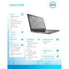 "VOSTRO 15 5568 Win10Pro i7-7500U/256GB/8GB/GF940MX/15.6""FHD/3-cell/KB-Backlit/Grey/3Y NBD-192593"