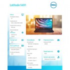 "Latitude 5491 Win10Pro i5-8400H/256GB/8GB/Intel UHD620/14.0""FHD/ 4-cell/KB-Backlit/3Y NBD -200214"