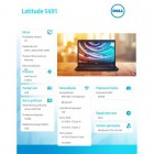 "Latitude 5491 Win10Pro i5-8400H/256GB/8GB/MX130/14.0""FHD/4-cell/KB-Backlit/3Y NBD -209285"