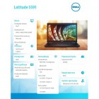 "Latitude 5591 Win10Pro i7-8850H/256GB/8GB/Intel UHD630/14.0""FHD/4-cell/KB-Backlit/3Y NBD -215189"
