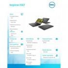 """Inspiron 3567 Win10Home i3-6006U/128GB/4GB/DVDRW/Intel HD/15.6""""HD/40WHR/Black/1Y CAR 1Y NBD-209066"""