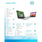 "Inspiron 7570 Win10Home i5-8250U/256GB/8GB/GF940MX/15.6""FHD/KB-Backlit/Silver/3WHR/1Y NBD 1Y CAR-182662"