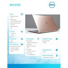 "XPS 9370 Win 10 Pro i5-8250U/256GB/8GB/Intel HD/13.3""FHD/KB-Backlit/Rose Gold/52 WHR/2Y NBD-182670"