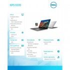 "XPS 9370 Win10Pro i7-8550U/256GB/8GB/Intel HD/13.3"" FHD/KB-Backlit/Silver/2Y NBD-173374"
