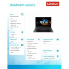 """ThinkPad X1 Carbon 6 20KH006MPB W10Pro i7-8550U/16GB/1TB/INT/14.0"""" WQHD/BLK/WWAN/3YRS OS-185299"""