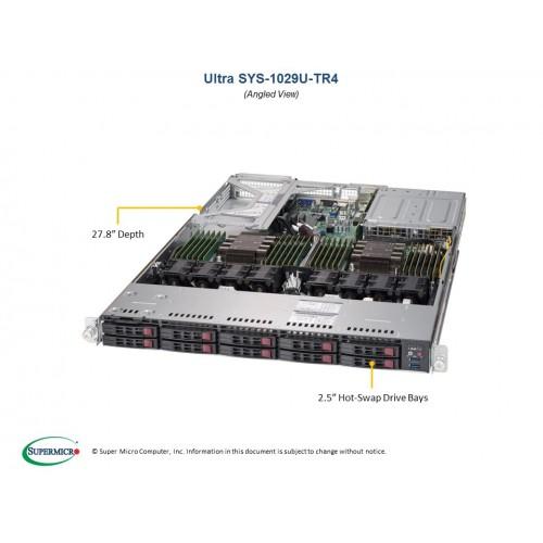 Serwer Supermicro - SuperServer 1029U-TR4 (Black)| SYS-1029U-TR4