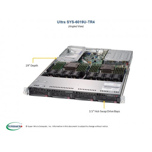 Serwer Supermicro - SuperServer 6019U-TR4 (Black) | SYS-6019U-TR4