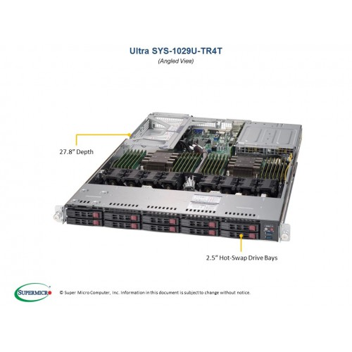 Serwer Supermicro - SuperServer 6029U-TR4 (Black) | SYS-6029U-TR4