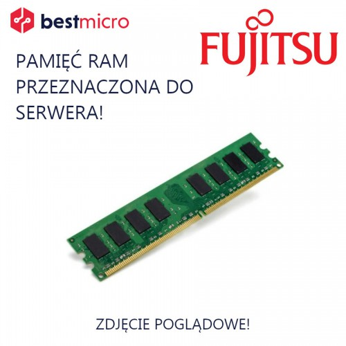 FUJITSU Pamięć RAM, PC3-10600R, DDR3-1333, 8GB, 1333MHz, 2RX4 - 10601151757