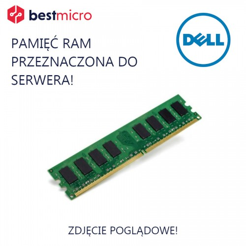 DELL Pamięć RAM, DDR3 16GB 1600MHz, 1x16GB, PC3-12800R, CL11, ECC - DF1MC