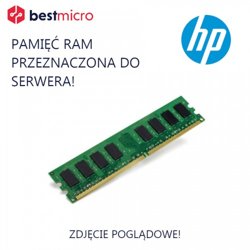 HP Pamięć RAM Memory Kit, DDR3 4GB 1333MHz, 1x4GB, PC3L-10600U, CL9, ECC - 647657-071
