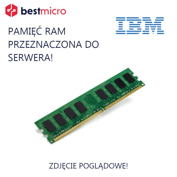 IBM 8GB (2Rx4, 1.35V) PC3L-10600 CL9 VLP RDIMM - 46C0580