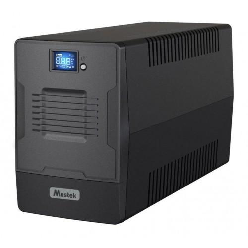 UPS MUSTEK 900 Watts 1500 VA Wave form type Simulated sinewave LineInteractive Desktop/pedestal 1500-LCD-LI-T30