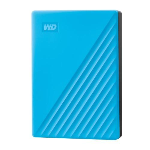 Dysk Twardy zewnętrzny HDD WD My Passport 4TB USB 2.0 USB 3.0 USB 3.2 Colour Blue WDBPKJ0040BBL-WESN
