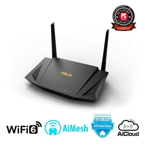 Wireless Router ASUS Wireless Router 1800 Mbps IEEE 802.11ac IEEE 802.11ax USB 2.0 USB 3.1 1 WAN 4x10/100/1000M Number of antenn