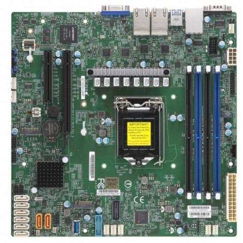 Płyta główna serwerowa C246 S1151 MATX/MBD-X11SCH-LN4F-O SUPERMICRO