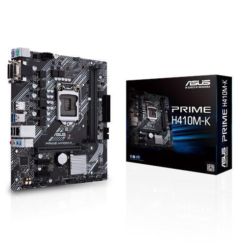 Płyta główna ASUS Intel H410 Express LGA1200 MicroATX 2xPCI-Express 3.0 1x 1xPCI-Express 3.0 16x Memory DDR4 Memory slots 2 1