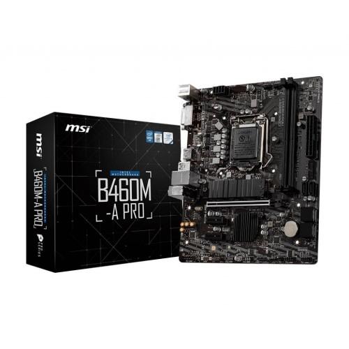 Płyta główna MSI Intel B460 Express LGA1200 MicroATX 2xPCI-Express 3.0 1x 1xPCI-Express 3.0 16x 1xM.2 Memory DDR4 Memory slot