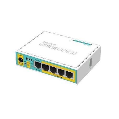NET ROUTER 10/100M 5PORT HEX/POE LITE RB750UPR2 MIKROTIK