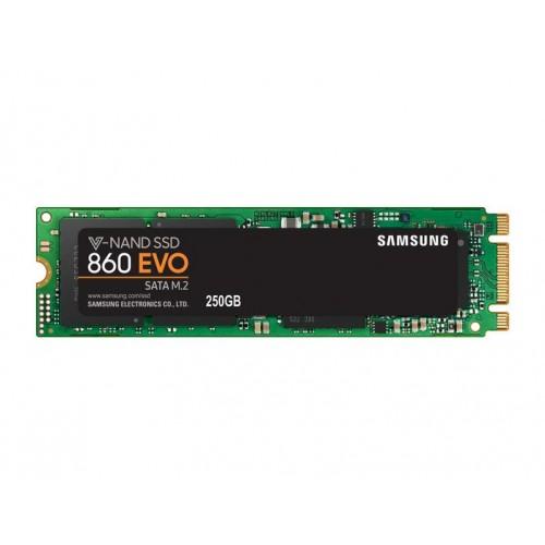 Dysk Twardy SSD SAMSUNG 860 Evo 250GB M.2 SATA 3.0 MLC Write speed 520 MBytes/sec Read speed 550 MBytes/sec MTBF 1500000 hours M