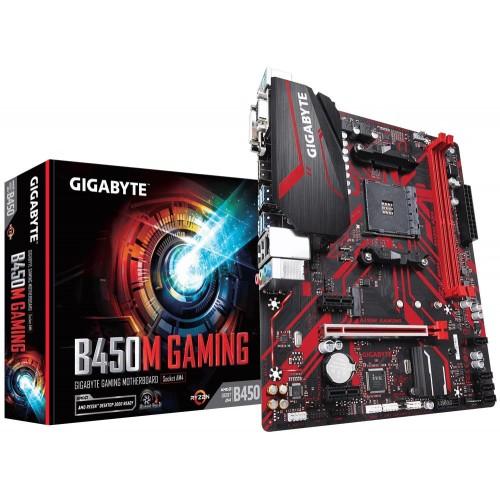 Płyta główna GIGABYTE AMD B450 SAM4 MicroATX 2xPCI-Express 1x 1xPCI-Express 16x 1xM.2 Memory DDR4 Memory slots 2 1x15pin D-su