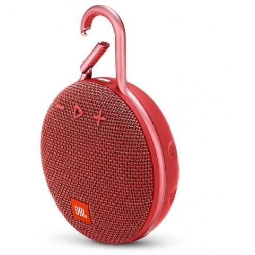 Głośnik przenośny JBL CLIP 3 Portable/Waterproof/Wireless 1xAudio-In 1xMicro-USB Bluetooth Red JBLCLIP3RED