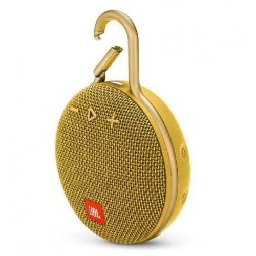 Głośnik przenośny JBL CLIP 3 Portable/Waterproof/Wireless 1xAudio-In 1xMicro-USB Bluetooth Yellow JBLCLIP3YEL