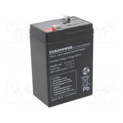 Akumulator 6V 4.5AH VRLA/EP4.5-6 EUROPOWER EMU
