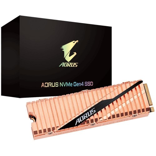 Dysk Twardy SSD GIGABYTE AORUS 1TB M.2 PCIE NVMe TLC Write speed 4400 MBytes/sec Read speed 5000 MBytes/sec MTBF 1770000 hours G