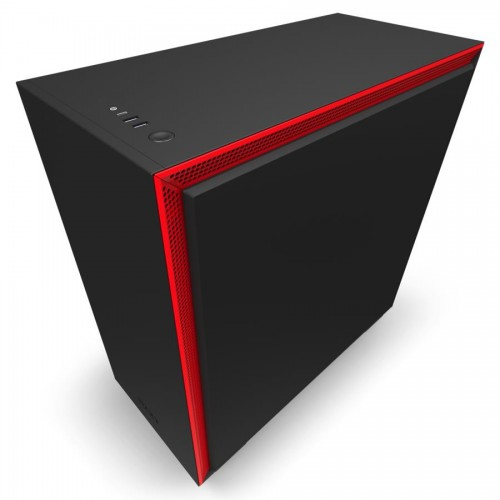 Obudowa NZXT H710 MidiTower Not included ATX EATX MicroATX MiniITX Colour Black / Red CA-H710B-BR