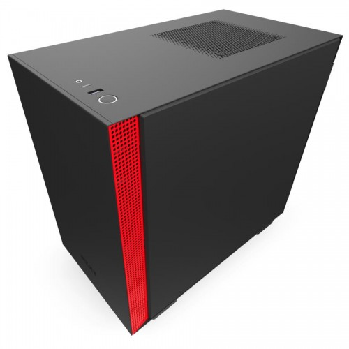 Obudowa NZXT H210i MiniTower Not included MiniITX Colour Black / Red CA-H210I-BR