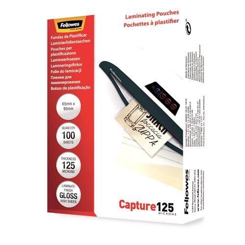 LAMINATOR POUCH GLOSSY CARD/125 100PCS 5306702 FELLOWES