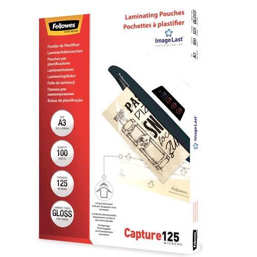 LAMINATOR POUCH IMAGELAST/A3 125 100PCS 5307506 FELLOWES