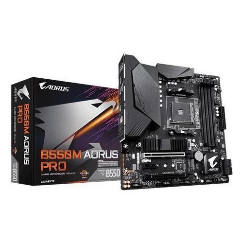 Płyta główna GIGABYTE AMD B550 SAM4 MicroATX 1xPCI-Express 3.0 1x 1xPCI-Express 3.0 4x 1xPCI-Express 3.0 16x 2xM.2 Memory DDR