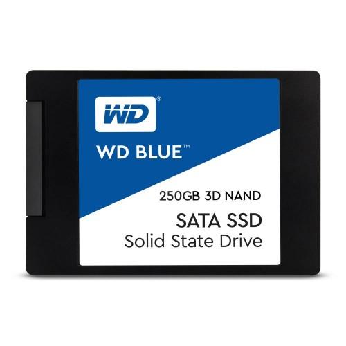 "Dysk Twardy SSD WD Blue 250GB SATA 3.0 TLC Write speed 525 MBytes/sec Read speed 550 MBytes/sec 2,5"" MTBF 1750000 hours WDS250G"
