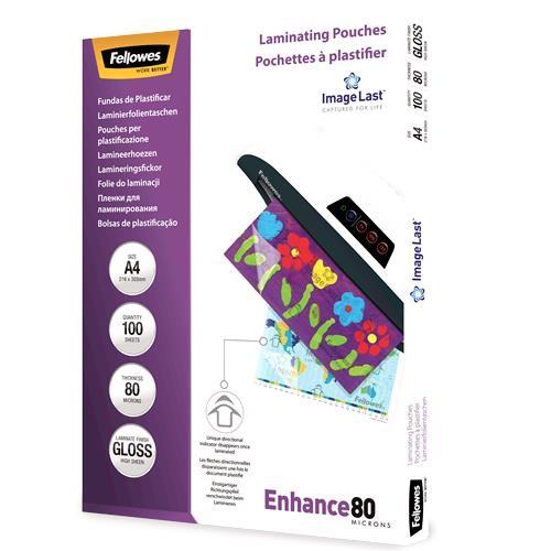 LAMINATOR POUCH IMAGELAST/A4 80 100PCS 5306114 FELLOWES
